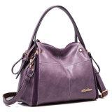 女性のための2016の最も新しい方法紫色PUの革ハンドバッグ