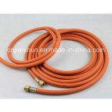 Orange Oil Resistant Rubber Material Fiber Braided LPG Gas Hose mit 3/16 ''