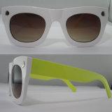 Óculos de sol coloridos P01084 do acetato da forma da alta qualidade