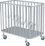 Steel di acciaio inossidabile Medical Trolley per Dirty Article