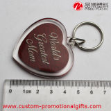 Trousseau de clés acrylique mignon de souvenir de forme de coeur de cadeau de promotion