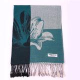 картина цветка Pashmina шарфа зимы 170*68cm теплая для повелительницы