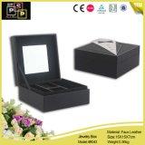 絶妙で白い普及した映された正方形のカスタム革宝石類包装ボックス