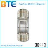 Ce Vvvf Gearless Panoramic Passenger Elevator