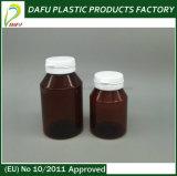 Botella plástica del ámbar del caramelo del animal doméstico 110ml