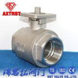 2 válvula de esfera de flutuação elevada da linha da almofada de montagem da parte ISO5211