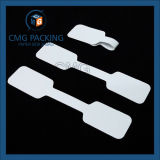 Tarjeta blanca del collar de la joyería del PVC (CMG-052)