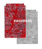 Carte Fr4 2 couches de couleur rouge d'or