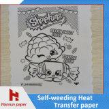 Tamanho do papel de transferência térmica A3/A4 da remoção de ervas daninhas do auto para o algodão