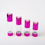 bottiglia senz'aria di plastica della pompa 20ml-50ml con la pompa di alluminio di figura di U
