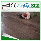 Klassischer HDF glatter hellbrauner lamellierter Bodenbelag