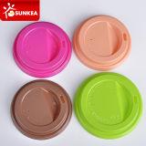 Couvercle multi de plastique de cuvette de café de papier de couleur
