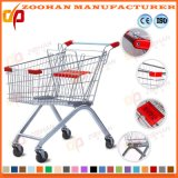 Haltbare Zink-oder Chrom-Supermarkt-Einkaufswagen-Laufkatze (Zht136)