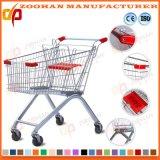 Прочная вагонетка магазинной тележкаи супермаркета цинка или крома (Zht136)
