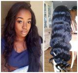 Peruca cheia do laço do cabelo humano de Remy do Virgin do brasileiro de 100%