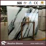 Piedra de mármol blanca de la losa del mármol de la panda