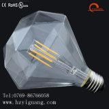 Bulbo del filamento del lumen E27 Edison de la dimensión de una variable del diamante alto