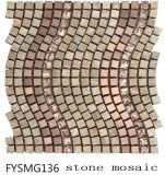 Baumaterial-Metall/Kristall/Marmormosaik-Fliese (FYSMG136)