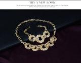 Grand bijou en cristal d'or à chaînes de collier de rapport de mode réglée Exaggerated de 4 PCS