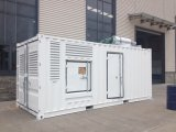 방음 닫집을%s 가진 552kw/690kVA Doosan 디젤 엔진 생성 세트