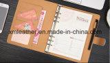 Diario de cuero personalizado diario de cuero con el bucle de la pluma