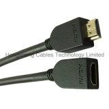 Hochgeschwindigkeits-Haupt-HDMI M-F Kabel Belüftung-mit Gold-Plated Verbinder