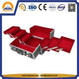 Cas en aluminium dur de beauté avec les plateaux (HB-3165)