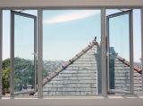 Windows, finestra di alluminio, finestra della stoffa per tendine, finestra di alluminio e portello