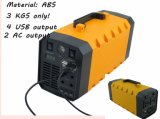 Bloc d'alimentation Emergency de sauvegarde portatif universel d'UPS de C.C 4X12V à C.A. 220V/500W avec 3W DEL 500ad