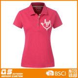 T-shirt apropriado do esporte do polo das mulheres