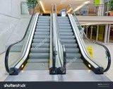 Escalera móvil pública usada del pasajero de la alameda de compras con de alta tecnología