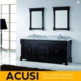 新しい優れた米国式のクルミの純木の浴室の虚栄心の浴室用キャビネットの浴室の家具(ACS1-W23)