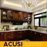 Mobilia a forma di L della cucina dell'armadio da cucina di legno solido dell'armadietto di stile all'ingrosso dell'oggetto d'antiquariato (ACS2-W02)
