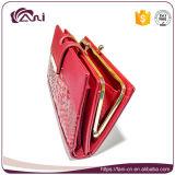 Повелительница Муфта Портмоне красного цвета, бумажник муфты женщин PU, мешок деньг муфты с дешевым ценой