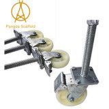 Neuestes Entwurfs-Qualitäts-Gestell-Fußrollen-Rad mit Bremse