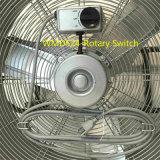 Interruptor rotativo da roda de borracha 24 ventiladores do carrinho do assoalho do ventilador da velocidade elevada do ventilador do cilindro da polegada para a oficina, armazém, garagem