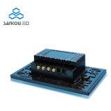 Wir intelligente Wand-Schalter-schwarzer Glaspanel-Noten-Schalter LED des Noten-Schalter-2way