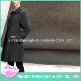 Черный двойник ткани костюма встал на сторону оптовая продажа ткани шерстей кашемира