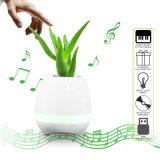Juego de alta tecnología la maceta elegante de la música del tacto del piano con el altavoz de Bluetooth y el LED