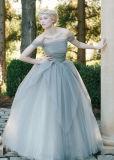 어깨 떨어져 무도회복 Tulle 먼지 투성이 파랑은 Tb196를 결혼식 옷을 입는다