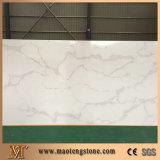 Камень кварца Statuario белый для строительного материала