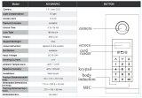 ИК свет контроля доступа входа двери домофон