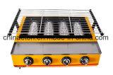 Roaster ambiental do BBQ da Quatro-Cabeça comercial, Roaster Et-K222 do gás (padrão)