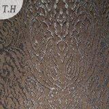 Tissu de jacquard de café pour le sofa et les meubles (FTH31968)