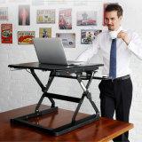 Standplatz-Schreibtisch-Aufbruch-faltbaren Notizbuch-Schreibtisch-Standplatz mit Tastatur-Tellersegment sitzen