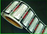 Etiqueta plástica do fio do dispositivo elétrico autoadesivo