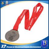 Медаль металла промотирования высокого качества покрынное серебром с отрезоком вне