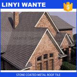 Da pedra de alumínio da folha da telhadura da exportação telha de telhado revestida do metal