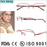 Frame Titanium vermelho claro super dos Eyeglasses para mulheres