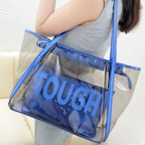 2016 New Design Fashion Clear PVC Sac fourre-tout à la plage Sacs à main